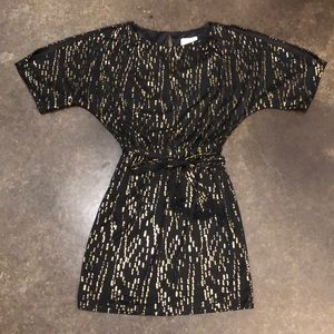 Jessica Simpson Black and Gold Dress